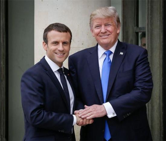 特朗普谈马克龙:他是好人 聪明坚强又喜欢握我的手